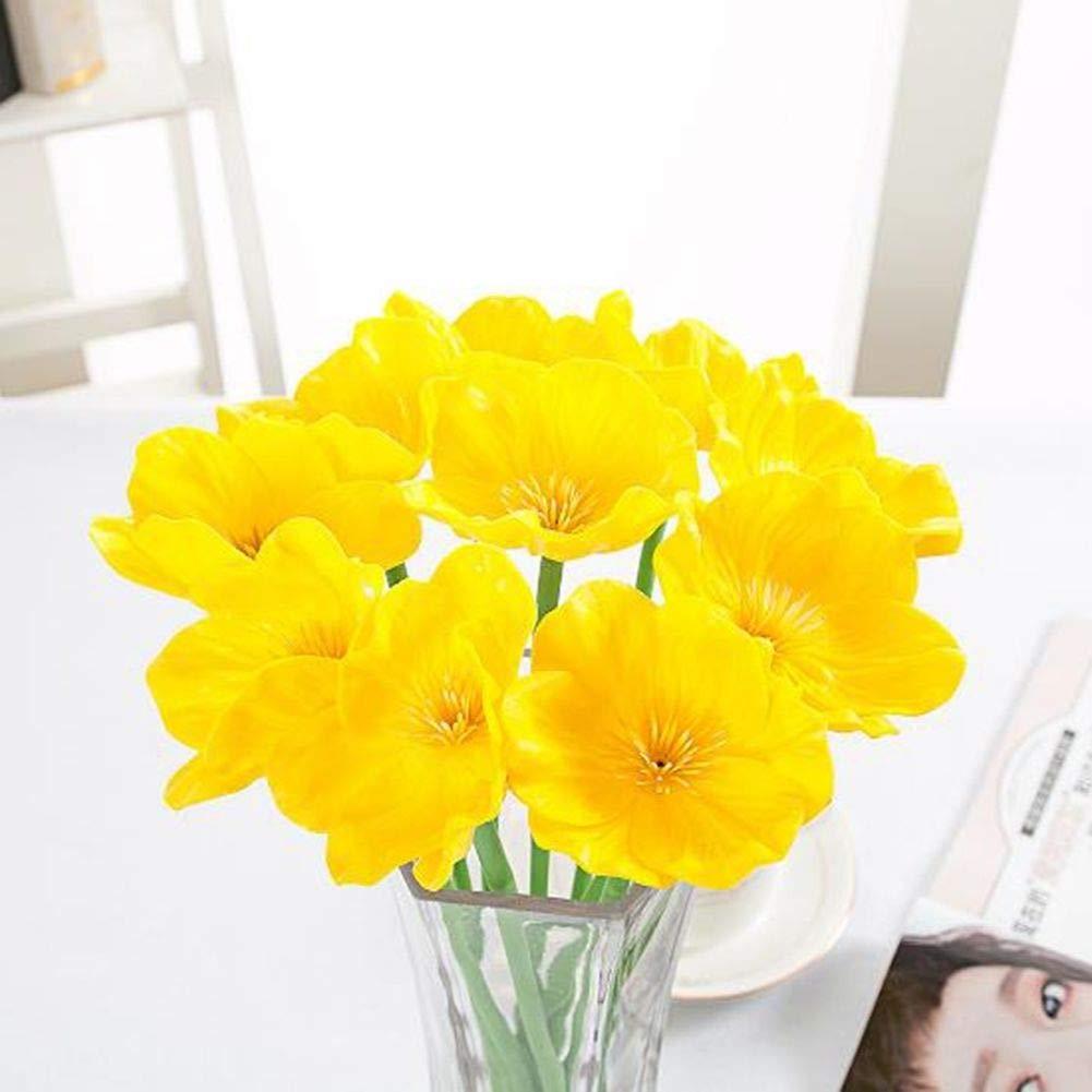 Muzhili3 1 Pc 6 Couleurs Home Office Cafe Artificielle Faux Coquelicot Fleur D/écoration Cadeau White