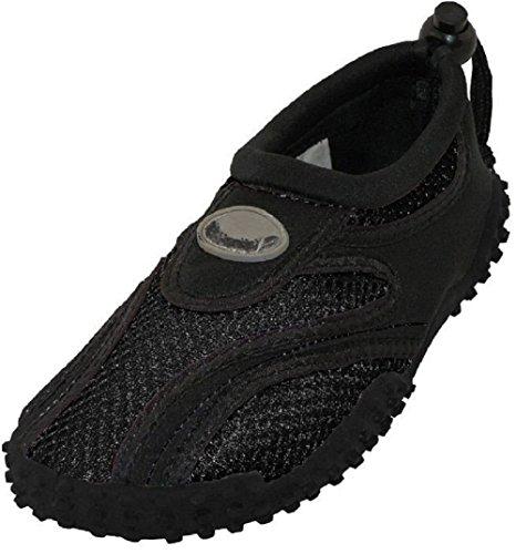 AimTrend Children's Water Shoes Aqua Pool Socks Black-Black-13