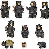 Black Bear Nativity Set 10 Pc Figurine Set Xlarge 7''