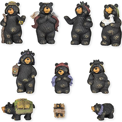 Black Bear Nativity Set 10 Pc Figurine Set Xlarge -