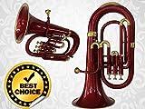 Euphonium 3V 100% Brass Red Bb FLAT ''SAI''M/ P & Bag Free
