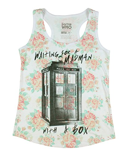 Doctor Who Madman Floral Girls Tank Top 2XL Size : XX-Large