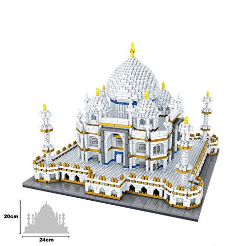 Actcute World Famous Architecture India Taj Mahal Palace 3D Model Diamond Mini DIY Micro Building Nano Blocks Bricks Toy for Children for Boys and Girl Birthday Gift