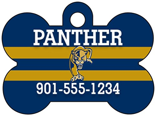 International Golden Panthers - Conference USA Football Dog Tag Pet Id Tag Personalized w/ Name & Number (Florida International Golden Panthers)