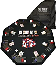 Trademark 10-0473 Poker Texas Traveller Table Top and 300 Chip Travel Set