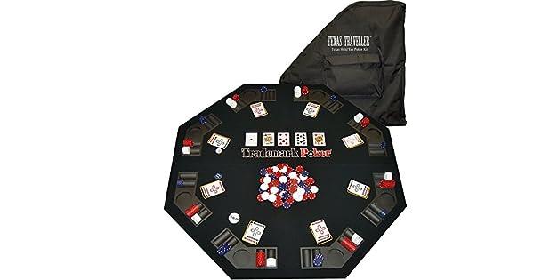 Amazon.com: Trademark Poker Texas Traveller Table parte ...