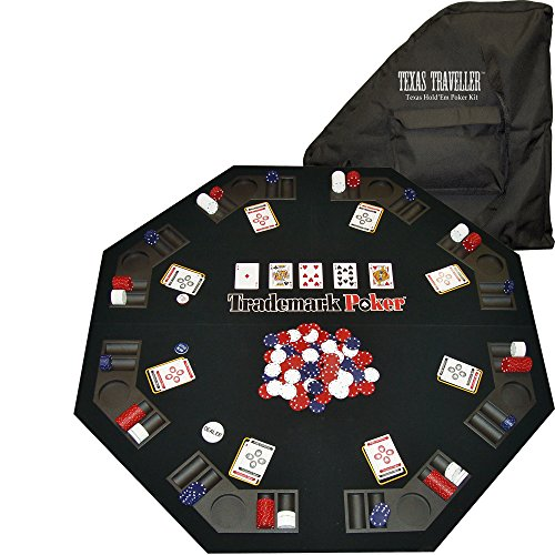 (Trademark Poker Texas Traveller Table Top & 300 Chip Travel Set)