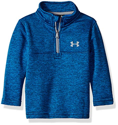 (Under Armour Baby Boys Quarter Zip Pull Over Jacket, Lockdown Blue Circuit,)