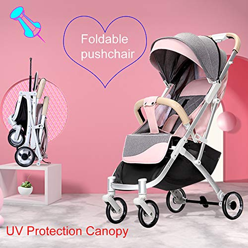HRD Portable Stroller, for Reclining Pushchair, Collapsible Toddler Pram, Foldable Baby Umbrellas high Landscape Strollers, Safety