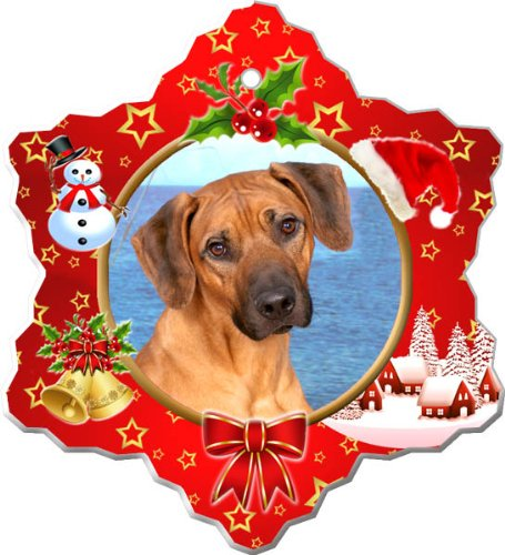 Canine Designs Rhodesian Ridgeback Porcelain Holiday Ornament ()