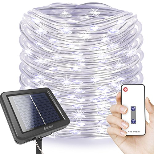 Solar 100 Led White Rope Lights in Florida - 1