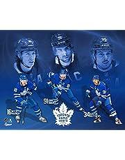 Frameworth Toronto Maple Leafs 16x20 Plaque 4-Player Collage Marner-Matthews-Tavares-Rielly, N/A, Black