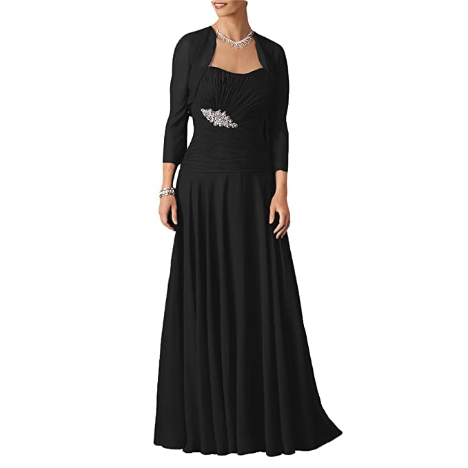 Amazon.com: dressyu Mujer Largo De Gasa madre de la novia ...