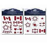 Canada Flag temporary Tattoos (2 pack)