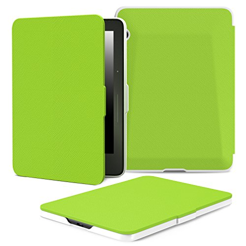 """MoKo Amazon Kindle Voyage Case - Slim Lightweight Smart Shell Stand Cover Case for Amazon Kindle Voyage 6"""" Inch, GREEN"""
