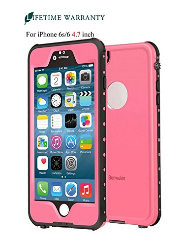 Waterproof and Shockproof Case for iPhone 6/6s (Pink) - 3
