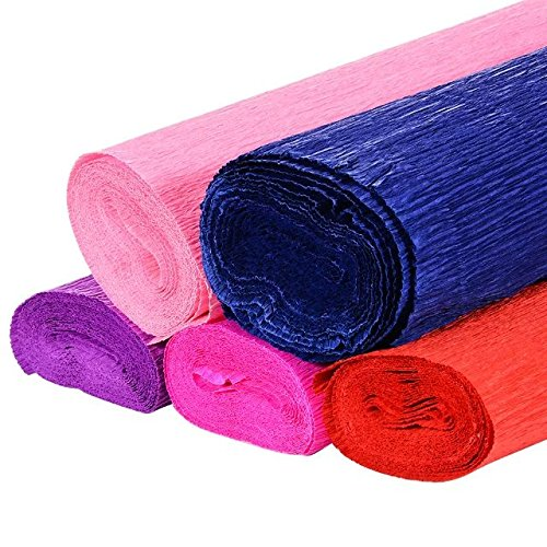Adeeing 50 x 250CM Solid Crepe Paper Roll for Flower DIY,Gift Wrapping Set (Crepe Paper Double compare prices)