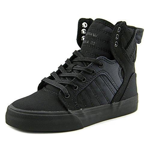 Supra Kids Boy's Skytop (Little Kid/Big Kid) Black Fade Nylon Sneaker 6 Big Kid M - Supra Skytop Sneakers