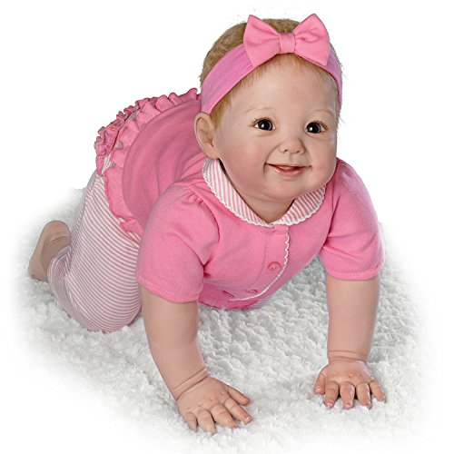 Aubrey's Crawling! Crawls To You At Your Touch- So Truly Real® Lifelike, Interactive & Realistic Baby Doll 15.5-inches  by The Ashton-Drake ()