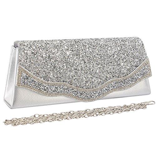 pour femme 90S Pochette femme pour Pochette silver silver 90S YCwqgxYa