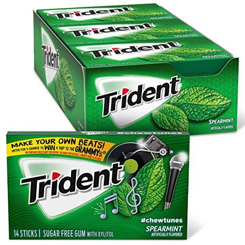 Trident Spearmint Sugar Free Gum, 12 Packs of 14 Pieces (168 Total Pieces)