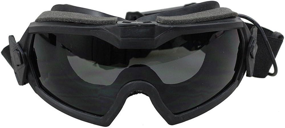 iUcare Lentes de Seguridad, FMA LPG01BK12-2R Regulador de versión actualizada con Ventilador para Paintball, equitación, Tiro, Caza, Ciclismo