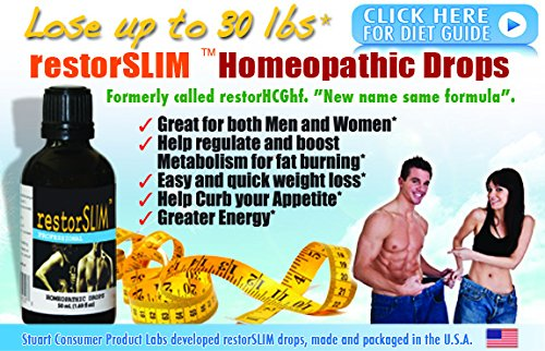 restorSLIM Homeopathic Drops. Helps Regulate and Boost metabolism for Fat Burning, Help Curb your Appetite, Greater energy, Great for Men & Woman - By Stuart CP Labs by Restorage (Image #5)