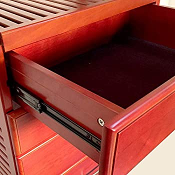 John Louis Home 16in. Deep Deluxe Organizer - 6 Drawers (6in. Deep) - Red Mahogany Finish