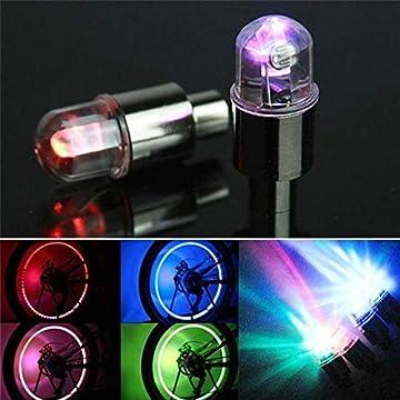 2 pcs LED Car Valve Stems & Caps Accessories Car Bike Wheel Tire Tyre Valve Dust Spoke Flash Lights Newest