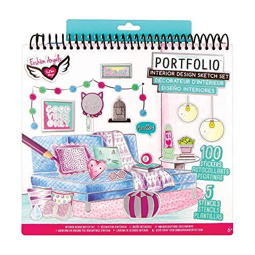 Fashion Angels Interior Design Sketch Portfolio- Sketch Book- Learn Interior Design