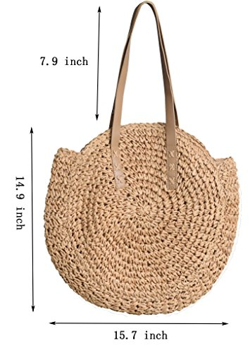 Beach Crossbody Purse Handle Shoulder Handbags Top Molodo Small Camel Bags Tote Summer Satchels Straw XfxqZv4wz