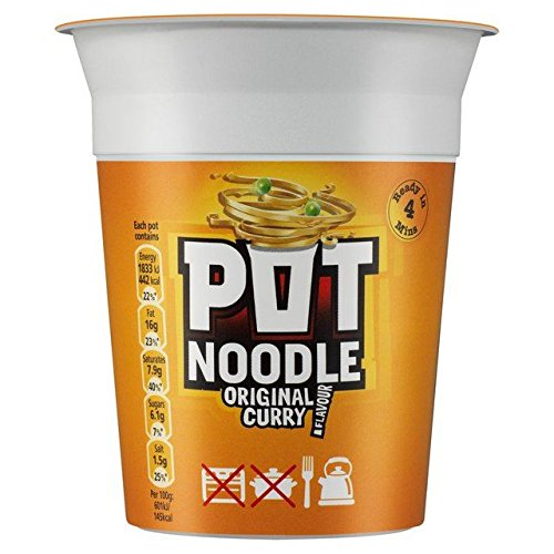 Salads For Christmas Uk - Pot Noodle Original Curry 90g