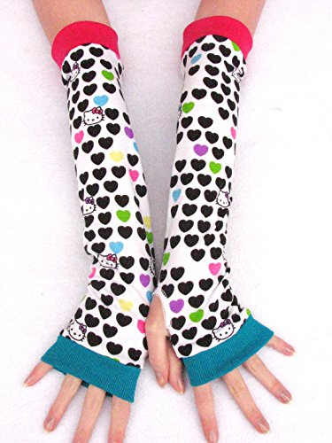Kids Cute Kitty Hearts Gloves Mittens Hello Cat
