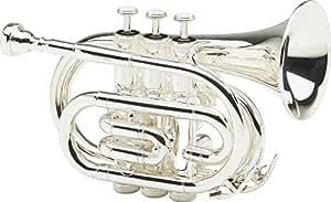 Allora MXPT-5801 Series Pocket Trumpet Silver