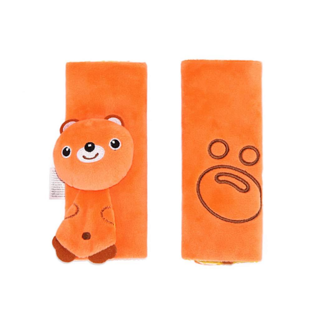 Newin Star Almohadillas para Cinturón de Seguridad, Protector de cinturón, Cinturón de Seguridad Cojín de Coche, Ajustable Protectores para la Cabeza para bebé (oso)