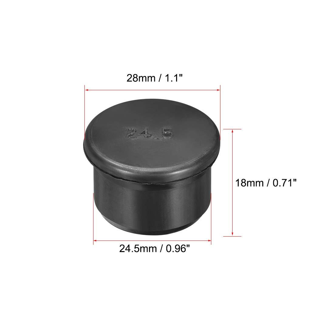 sourcing map Tap/ón de goma Tap/ón de inserci/ón SPR-120 5 piezas diametro de agujero de sellado 12mm para prensaestopas