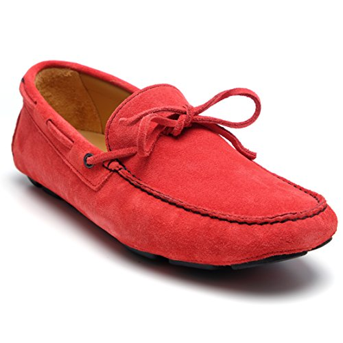 zanetti , Mocassins pour homme Rouge rouge