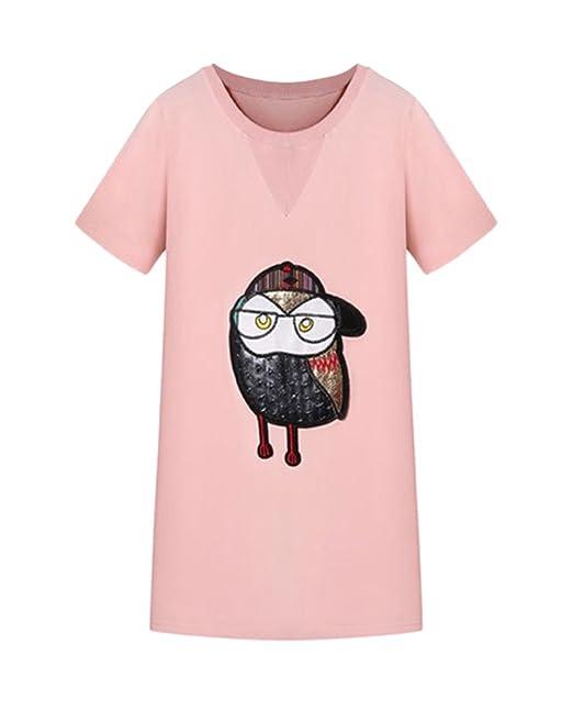 Mieuid Mujer Vestidos Verano Elegantes Cortos Estampados Buho Camisetas Vestido Lindo Chic Manga Corta Cuello Redondo Anchos Tallas Grandes T Shirt Vestidos ...