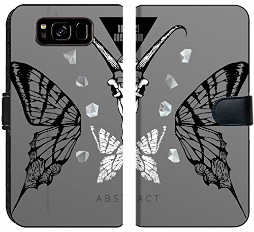 Samsung Galaxy S8 Flip Fabric Wallet Case Image ID 27136382 Abstract Gothic Sacral Illustration with Polygon Crystal Design eleme