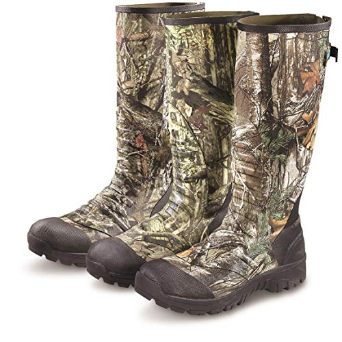 Guide Gear Men's Ankle Fit Insulated Rubber Boots, 800-gram, Mossy Oak Break-Up Country, 11D - Insulated Rubber Mens