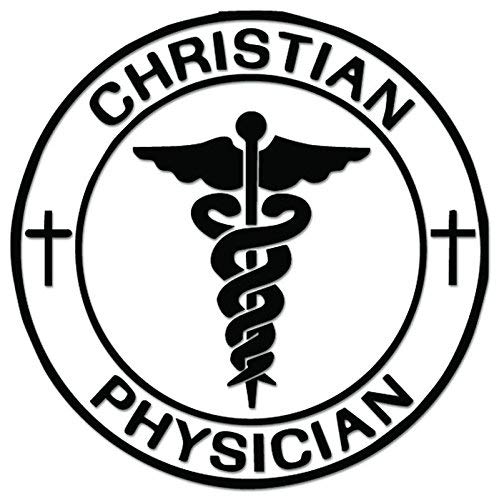 YWS Vinyl Stickers Decals - Christian Physician - Stickers Laptop Car Truck Window Bumper Home Decor SMA4013 (Best Laptop For Physicians)
