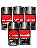 Hair Building Fibers with Natural Keratin to Conceal Instantly for Thinning Hair, Bald spot & Cover Up Hair Loss to Add Volume for Full & Thick Hair for Men & Women by PLAYHAIR (Black) … (1) (3) (5)