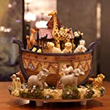 Yingealy Best Gifts Music Boxes Noah's Ark Animal World Rotating Music Box with Music of Canon Desktop Decorations