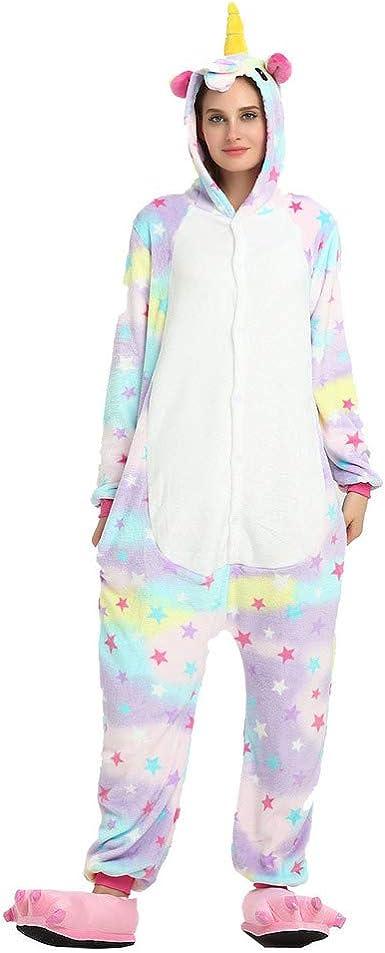 Adulto Pijama Unisex Casual con Capucha Animal Unicornio ...