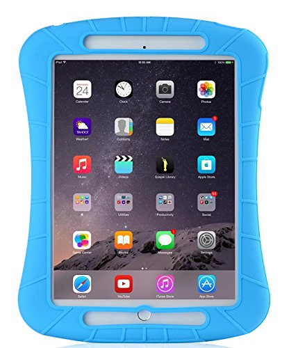 iXCC iPad Air Silicone Protective Case Cover [Drop Proof, Kids Proof, Shock Proof, Anti slip] for iPad Air (5th Generation) and iPad Air 2 - Blue