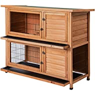 Merax Rabbit Hutch Wooden House Wooden Cage for Small Animals (Rabbit Hutch#1)