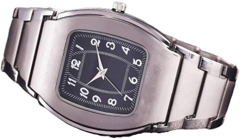 Reloj de Cuarzo Reloj del Negocio del Reloj de los Hombres de Acero Cuadrados Cuero de Acero Inoxidable