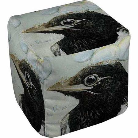 Thumbprintz Bubbles Birdbath Pouf, 18'' x 18'' x 18''