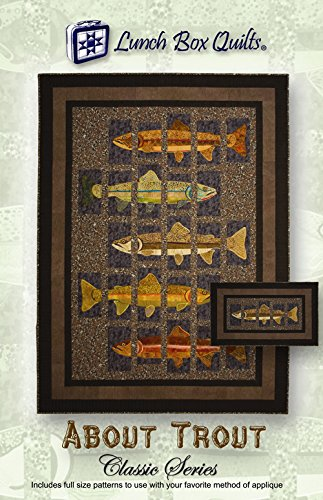 Applique Quilt Block Patterns (About Trout Classic Series Applique Quilt Pattern by Lunch Box)