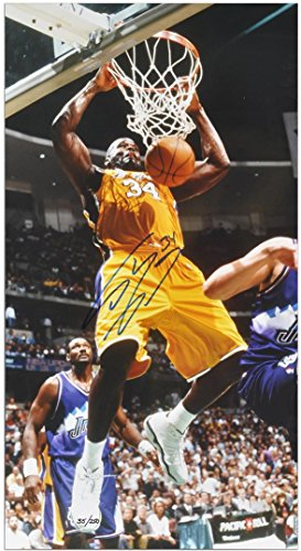 Autographed Oneal Photograph Shaquille - Shaquille O'Neal Los Angeles Lakers Autographed 20